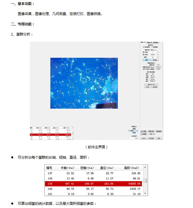 生物图像分析系统